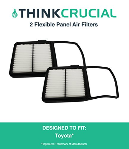 "2 Premium Rigid Panel Air Filters Fit Toyota Prius Hybrid, Maximum Air Flow, 1.04"" x 7.34"" x 11.35"" in., Part A25698 and CA10159, by Think Crucial"