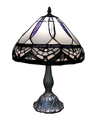 Tiffany-style White Jewels Table Lamp Tiffany-style Simple Table Lamp