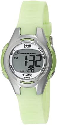 Timex Women's T5K081 1440 Sports Digital Light Green Resin Strap Watch