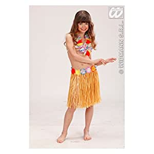Children's Child Hula Skirts - Flower Belt Natural Color Accessory for Tropical Hawiian Fancy Dress