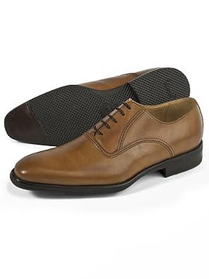 Vibram\reg; Sole Italian Leather Oxford Shoe Camel 8 Medium