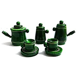 Kalaplanet Eco friendly Green Wooden Toy Tea Set