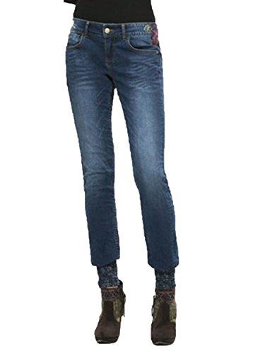 DESIGUAL - Jeans donna slim fit refriposas punos w28 denim