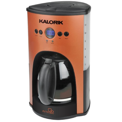 Kalorik 1000-Watt 12-Cup Programmable Coffeemaker, Copper