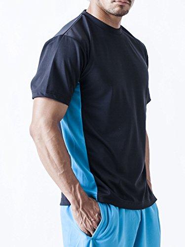 (ティーシャツドットエスティー) Tshirt.st ツートンカラーでスポーティーなデザインの 半袖 ドライ Tシャツ (SS , S , M , L , LL , 3L , 4L , 5L)