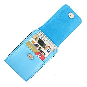 DooDa Genuine Leather Pouch Case Cover With Magnetic Closure For Lava Xolo A500L