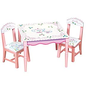 Amazon Com Guidecraft Tea Party Table And Chair Set