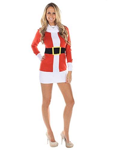 Women s ugly christmas sweater santa claus dress