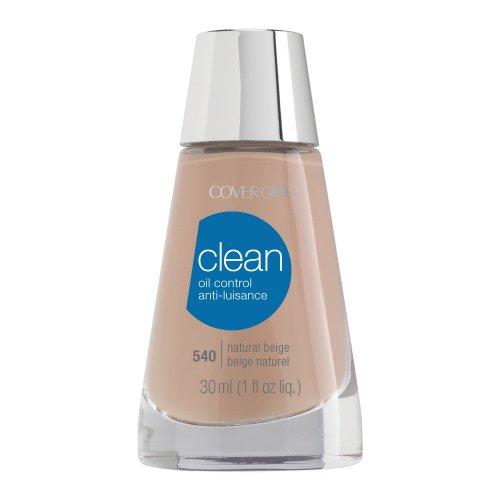 CoverGirl Clean Oil Control Liquid Makeup, Natural Beige (N) 540, 1.0-Ounce Bottles (Pack of 2)