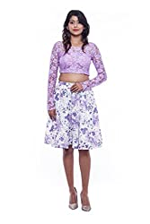 Light violet with white skirt and top