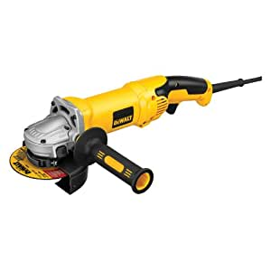 DEWALT D28115N 4-1/2-Inch/5-Inch High Performance Grinder with No-Lock On Trigger Grip