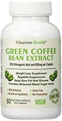 Green Coffee Bean Extract 100% All Natural, Non-gmo, Gluten Free. Most Effective Weight Loss Supplement, Appetite Suppressant, Metabolism Booster, Fat Burner & Carb Blocker. Premium Ultra Pure High Grade Slim Formula for Fat Burn - Extreme Strength Belly
