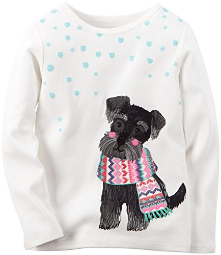 Carter's Baby Girl's Graphic Top - Puppy - 18 Months