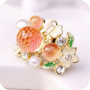 JE275 Heiße Verkaufs Ring, Ball, Diamant, Litchiund Blumen Ring, Einstellbar Größe Ring