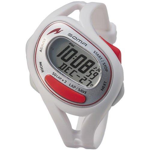 SOMA ソーマ ランニングウォッチ時計 RunONE 50 DWJ23-0003 ホワイト/レッド