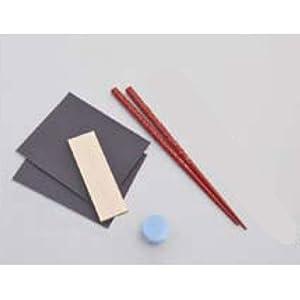 【クリックでお店のこの商品のページへ】Amazon.co.jp | 堆朱箸 青貝入り小・赤【工芸・民芸 沈金・螺鈿工芸】BB77665 | おもちゃ 通販