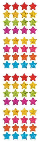 Jillson Roberts Prismatic Stickers, Micro Stars, 12-Sheet Count (S7140)