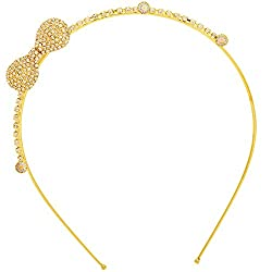 Sanjog Elegant Bow Golden Hair band/Headband For Kids/Women