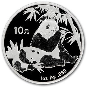 Chinese Panda 2007 Silver-dollar-sized Silver Coin One Ounce and Big 1 1/4 Inch Each - One Panda Silver Coin for Investment or Gifts