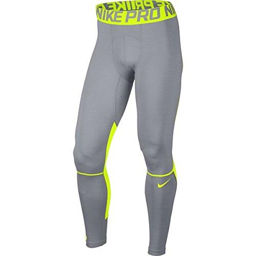 Nike da uomo NP Hyper caldo collant, Uomo, NP Hyper Warm, Wolf Grey/Volt/Volt, M