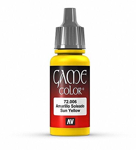 Vallejo Game Color Sunblast Yellow Paint, 17ml