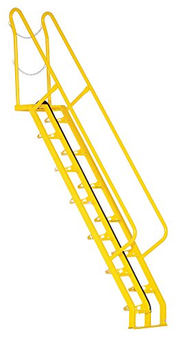 Vestil ATS-8-56 13 Alternating Tread Stair with 13 of Steps, Steel, 73-1/2