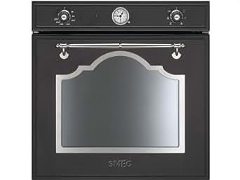 smeg sfp750ax pyrolyse einbau backofen anthrazit schwarz einbauherd nostalgie. Black Bedroom Furniture Sets. Home Design Ideas