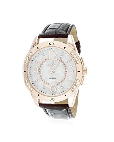 Via Nova Women's NWL304002Q-BK-Z Black Leather Watch