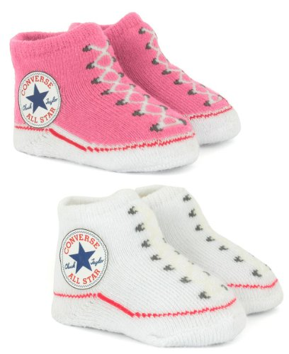 11318204-CNV001 TWIN PACK BOOTIE PNK/WHT PLU 84A Colour: PINK/WHITE / Size: ONE SIZE /