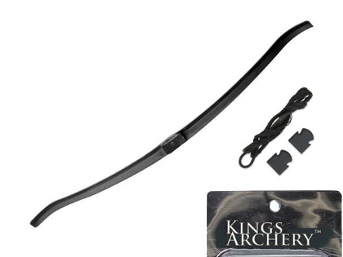 KingsArchery® 150 lbs Crossbow Fiber Bow Limb with a Pack of 150 lb Crossbow String and Caps Set by KingsArchery®