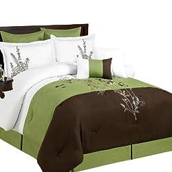 Alyssa 8-Piece Comforter Set, Queen, Sage