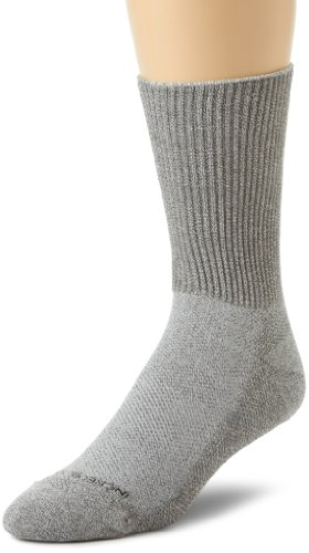 Incredisocks Diabetic Crew Sock With Bamboo Charcoal/Germanium Blend-M-Gray