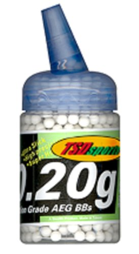 TSD Tactical 1,000 ct. Feeder Bottle Plastic White Airsoft BBs (6mm, 0.20g)