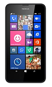 Nokia Lumia 635 8GB Unlocked GSM 4G LTE Windows 8.1 Quad-Core Phone (Black)