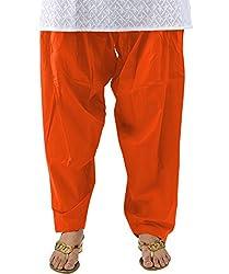 Neha Fashion Women's Regular Patiala Pant ( Orange )