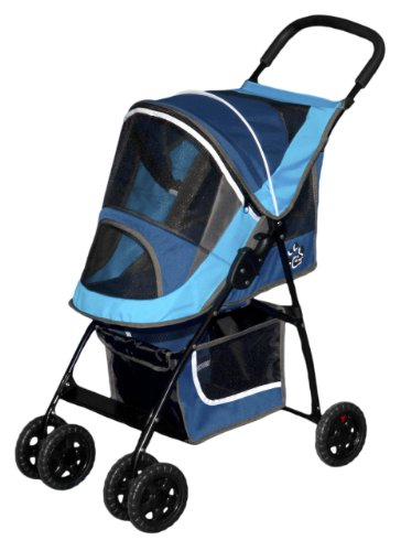Pet Gear Sport Pet Stroller for Cats and Dogs Up to 20-Pound, Sport Blue
