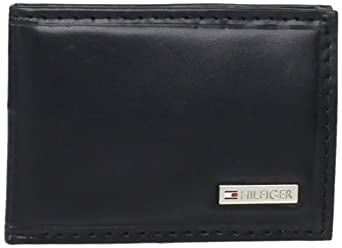 Tommy Hilfiger Men's Front Pocket Wallet, Black, One Size