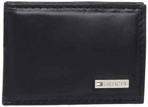 Tommy Hilfiger Men's Slim Front Pocket Wallet, Black, One Size (Tommy Money Clip compare prices)