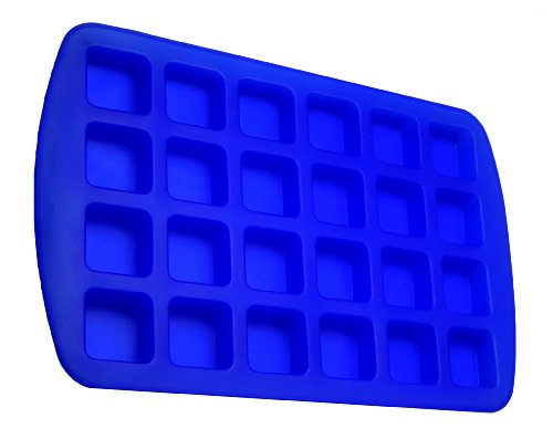 Better Value 24-Cavity Silicone Brownie Squares Baking Mold (Blue) front-574945