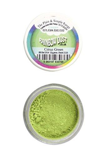 Rainbow Dust - Comestibles Gâteau Colorant Alimentaire Poudre CITRON VERT