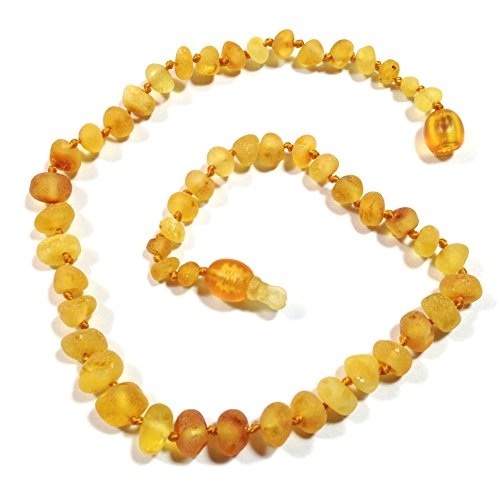 "Hazelaid (TM) 12"" Pop-Clasp Baltic Amber Lemondrop Necklace - 1"
