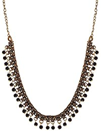 Ganapathy Gems Black Metal Chain Necklace For Women (11481_GPJ)