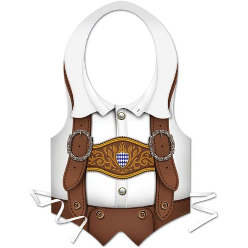 Plastic Oktoberfest Vest Party Accessory (1 count) - 1