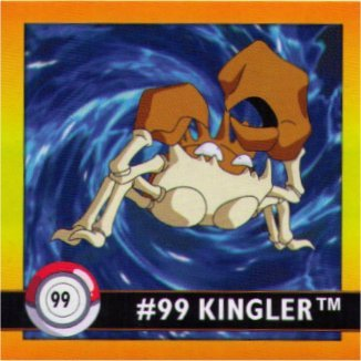 Pokemon Artbox 099 Kingler Sticker