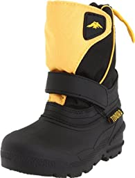 Tundra Quebec Wide Boot (Toddler/Little Kid/Big Kid),Black/Gold,11 W US Little Kid