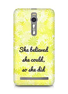 AMEZ she believed she could so she did Back Cover For Asus Zenfone 2
