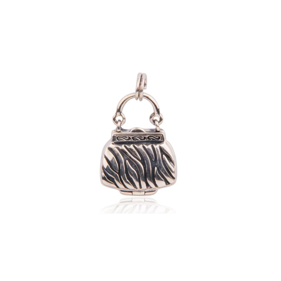 Sterling Silver Oxidized Handbag Charm Jewelry