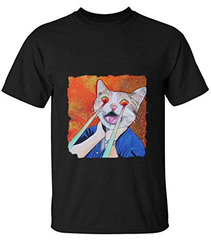 ReRabbit-laser-eyes-cat-T-Shirt-For-Mens
