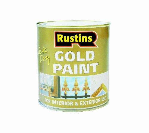 Rustins peinture s chage rapide pour bois et m tal dor for Peinture bois metal