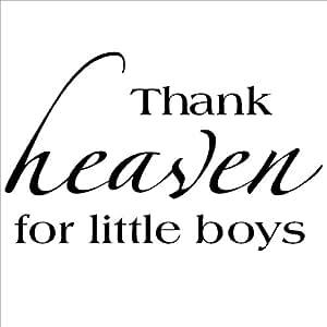 Amazon Com Thank Heaven For Little Boys Vinyl Lettering